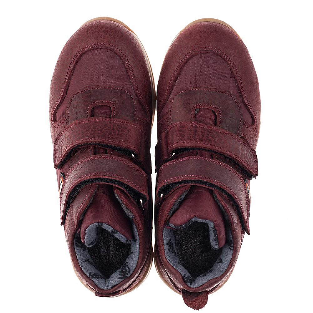 Детские демисезонные ботинки Woopy Orthopedic бордовые для девочек натуральная кожа, текстиль размер 27-35 (3817) Фото 4