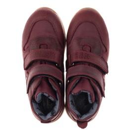 Детские демисезонные ботинки Woopy Orthopedic бордовые для девочек натуральная кожа, текстиль размер 27-34 (3817) Фото 4