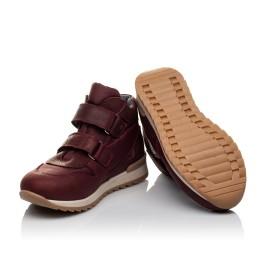 Детские демисезонные ботинки Woopy Orthopedic бордовые для девочек натуральная кожа, текстиль размер 27-34 (3817) Фото 5