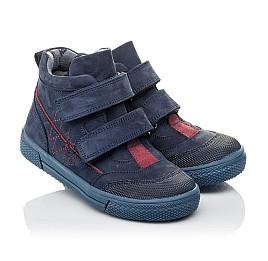 Детские демисезонные ботинки Woopy Orthopedic темно-синие для девочек натуральный нубук размер 21-30 (3818) Фото 1