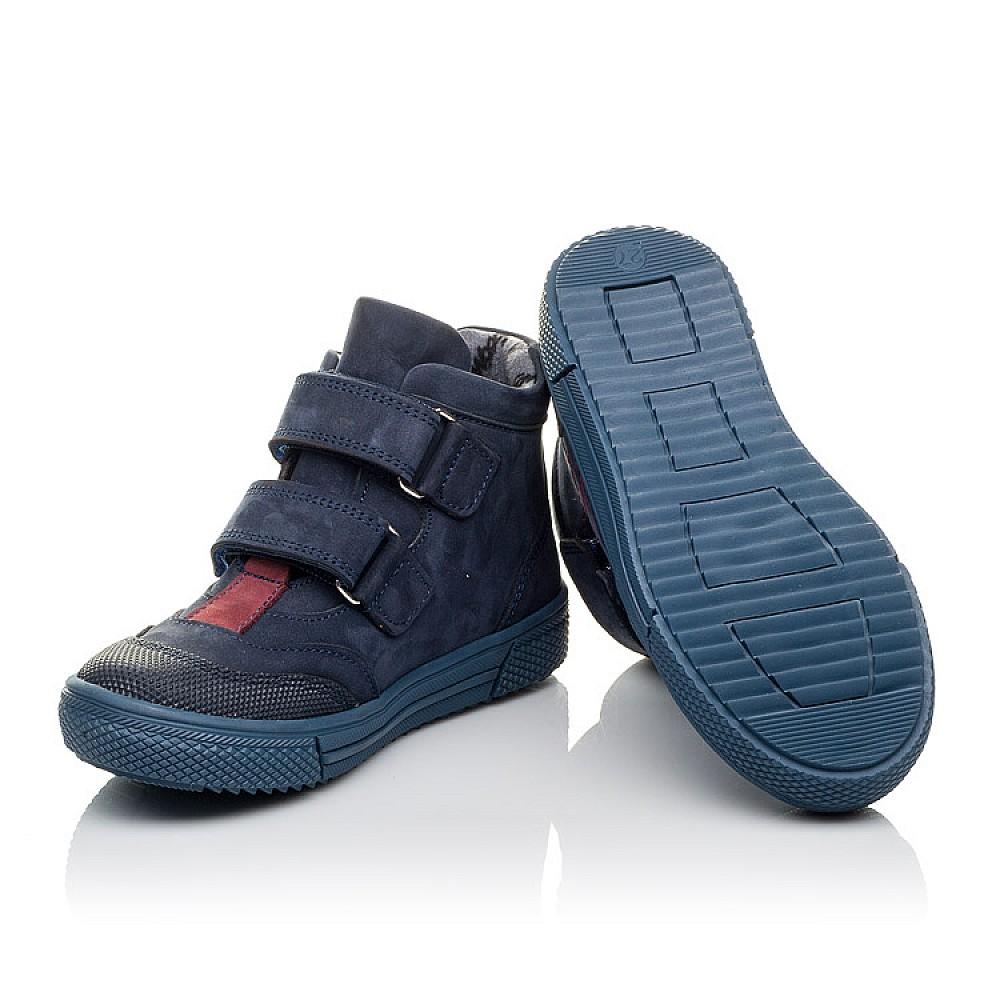 Детские демисезонные ботинки Woopy Orthopedic темно-синие для девочек натуральный нубук размер 21-30 (3818) Фото 2