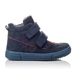 Детские демисезонные ботинки Woopy Orthopedic темно-синие для девочек натуральный нубук размер 21-30 (3818) Фото 4