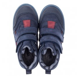 Детские демисезонные ботинки Woopy Orthopedic темно-синие для девочек натуральный нубук размер 21-30 (3818) Фото 5
