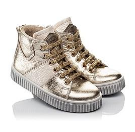 Детские демисезонные ботинки Woopy Orthopedic золотые для девочек натуральная кожа размер 21-22 (3819) Фото 1
