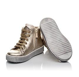 Детские демисезонные ботинки Woopy Orthopedic золотые для девочек натуральная кожа размер 21-22 (3819) Фото 2