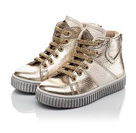 Детские демисезонные ботинки Woopy Orthopedic золотые для девочек натуральная кожа размер 21-22 (3819) Фото 3