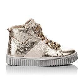 Детские демисезонные ботинки Woopy Orthopedic золотые для девочек натуральная кожа размер 21-22 (3819) Фото 4