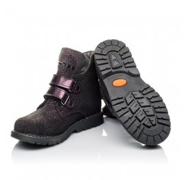 Детские демисезонные ботинки Woopy Orthopedic бордовые для девочек натуральный нубук размер 32-32 (3821) Фото 2