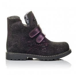 Детские демисезонные ботинки Woopy Orthopedic бордовые для девочек натуральный нубук размер 32-32 (3821) Фото 4