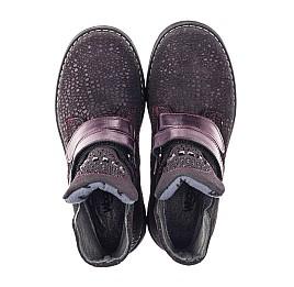 Детские демисезонные ботинки Woopy Orthopedic бордовые для девочек натуральный нубук размер 26-36 (3821) Фото 5