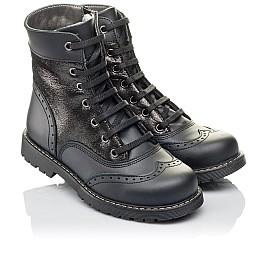 Детские демисезонные ботинки Woopy Orthopedic черные для девочек натуральная кожа размер 29-31 (3822) Фото 1