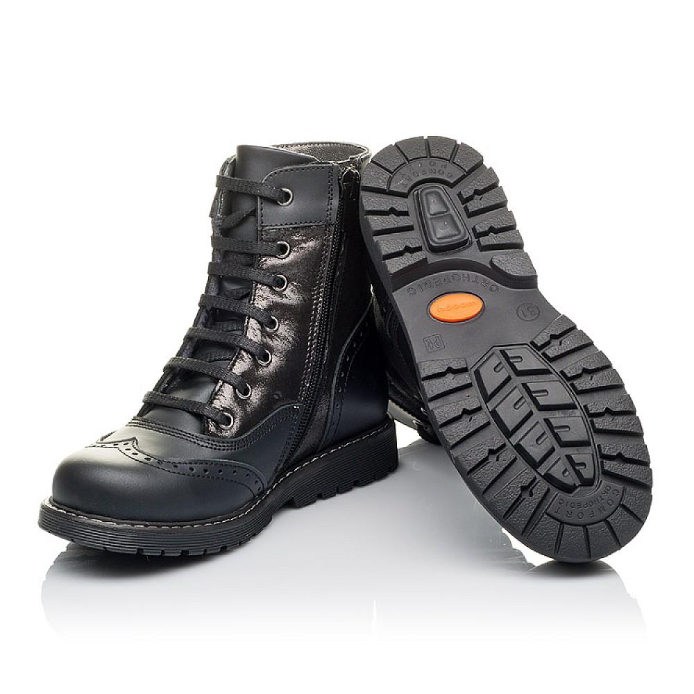 Детские демисезонные ботинки Woopy Orthopedic черные для девочек натуральная кожа размер 29-38 (3822) Фото 2