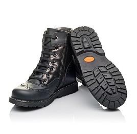 Детские демисезонные ботинки Woopy Orthopedic черные для девочек натуральная кожа размер 29-31 (3822) Фото 2