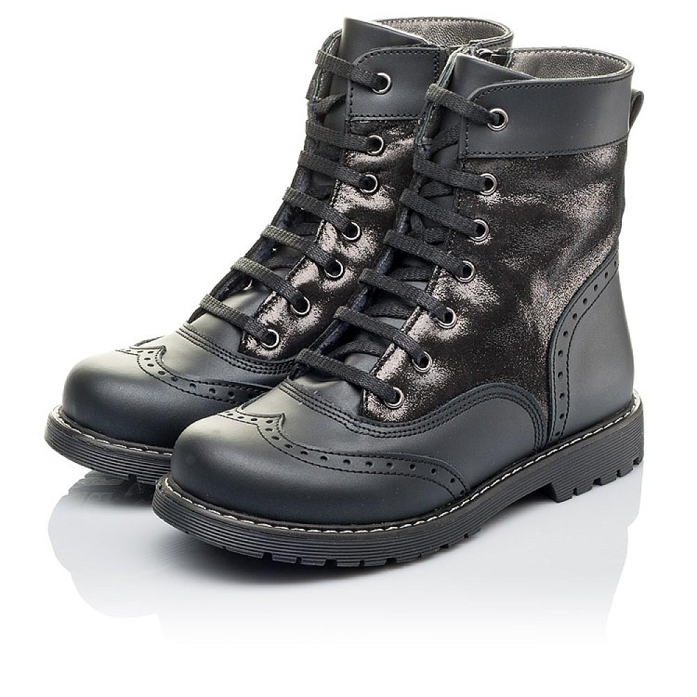 Детские демисезонные ботинки Woopy Orthopedic черные для девочек натуральная кожа размер 29-38 (3822) Фото 3