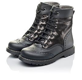 Детские демисезонные ботинки Woopy Orthopedic черные для девочек натуральная кожа размер 29-31 (3822) Фото 3