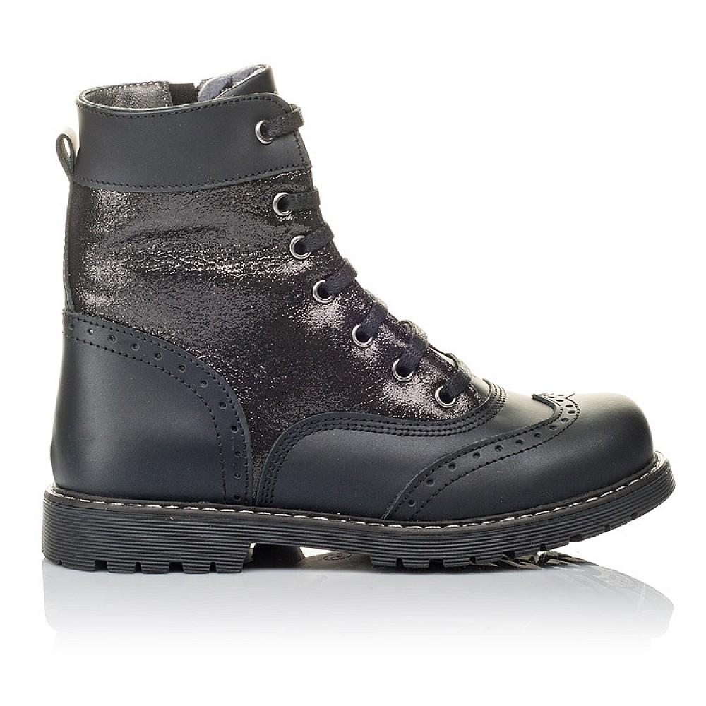 Детские демисезонные ботинки Woopy Orthopedic черные для девочек натуральная кожа размер 29-38 (3822) Фото 4