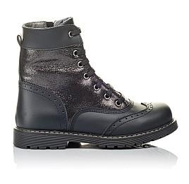 Детские демисезонные ботинки Woopy Orthopedic черные для девочек натуральная кожа размер 29-31 (3822) Фото 4