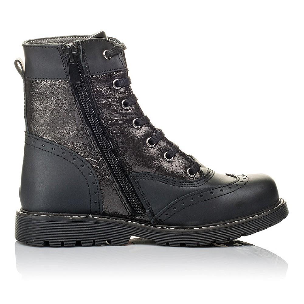 Детские демисезонные ботинки Woopy Orthopedic черные для девочек натуральная кожа размер 29-38 (3822) Фото 5