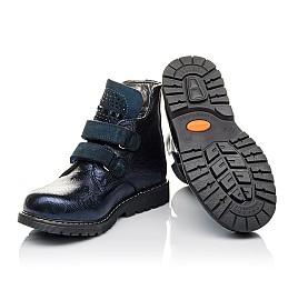 Детские демисезонные ботинки Woopy Orthopedic синие для девочек натуральная кожа размер 28-32 (3823) Фото 2