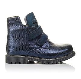 Детские демисезонные ботинки Woopy Orthopedic синие для девочек натуральная кожа размер 28-32 (3823) Фото 4
