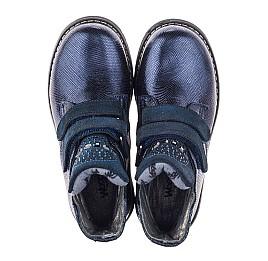 Детские демисезонные ботинки Woopy Orthopedic синие для девочек натуральная кожа размер 28-32 (3823) Фото 5