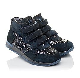 Детские демисезонные ботинки Woopy Orthopedic темно-синие для девочек натуральная замша размер 29-37 (3824) Фото 1