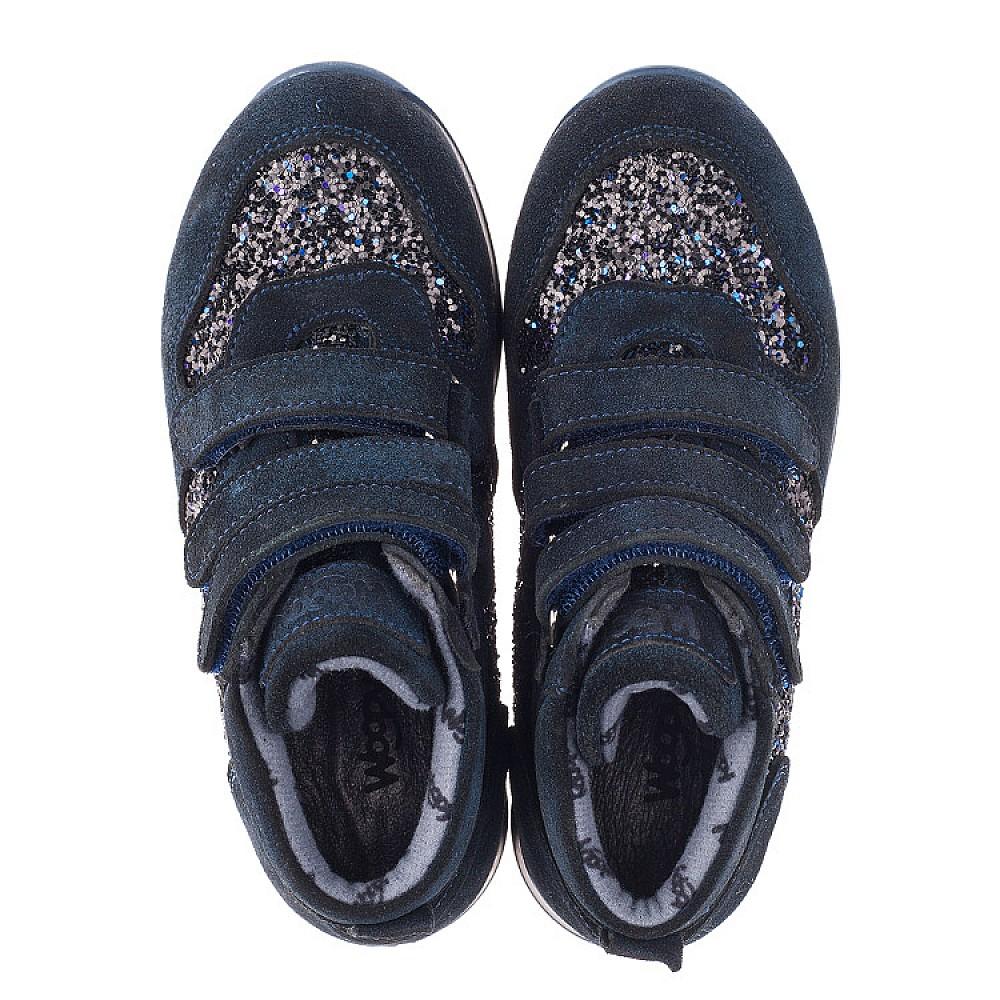 Детские демисезонные ботинки Woopy Orthopedic темно-синие для девочек натуральная замша размер 29-37 (3824) Фото 5
