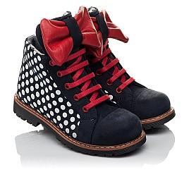 Детские демисезонные ботинки Woopy Orthopedic темно-синие для девочек натуральный нубук размер 25-30 (3825) Фото 1