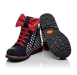 Детские демисезонные ботинки Woopy Orthopedic темно-синие для девочек натуральный нубук размер 25-30 (3825) Фото 2