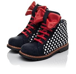 Детские демисезонные ботинки Woopy Orthopedic темно-синие для девочек натуральный нубук размер 25-30 (3825) Фото 3