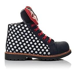 Детские демисезонные ботинки Woopy Orthopedic темно-синие для девочек натуральный нубук размер 25-30 (3825) Фото 4