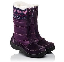 Детские термосапожки Floare фиолетовые для девочек замша, текстиль размер 27-27 (3837) Фото 1