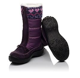 Детские термосапожки Floare фиолетовые для девочек замша, текстиль размер 27-27 (3837) Фото 2