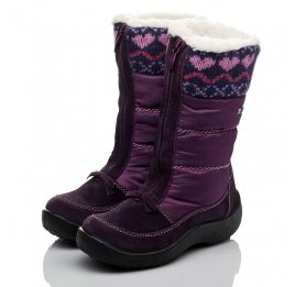 Детские термосапожки Floare фиолетовые для девочек замша, текстиль размер 27-27 (3837) Фото 3