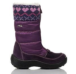 Детские термосапожки Floare фиолетовые для девочек замша, текстиль размер 27-27 (3837) Фото 4