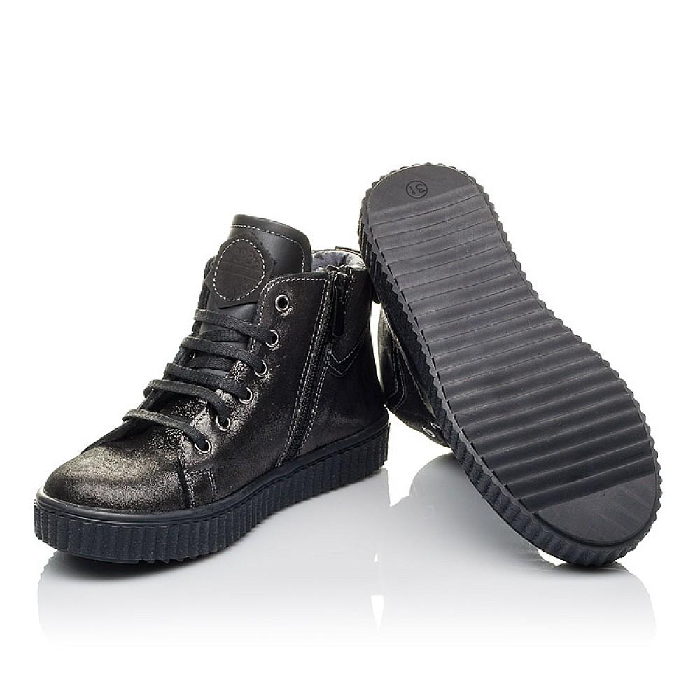 Детские демисезонные ботинк Woopy Orthopedic серые для девочек натуральная кожа размер 30-36 (3839) Фото 2