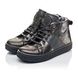 Детские демисезонные ботинк Woopy Orthopedic серые для девочек  натуральная кожа размер 30-35 (3839) Фото 3