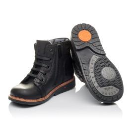 Детские демисезонные ботинки Woopy Orthopedic черные для мальчиков  натуральная кожа размер 23-30 (3841) Фото 2
