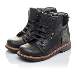 Детские демисезонные ботинки Woopy Orthopedic черные для мальчиков  натуральная кожа размер 23-30 (3841) Фото 3