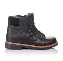 Детские демисезонные ботинки Woopy Orthopedic черные для мальчиков  натуральная кожа размер 23-30 (3841) Фото 4