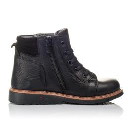Детские демисезонные ботинки Woopy Orthopedic черные для мальчиков  натуральная кожа размер 23-30 (3841) Фото 5