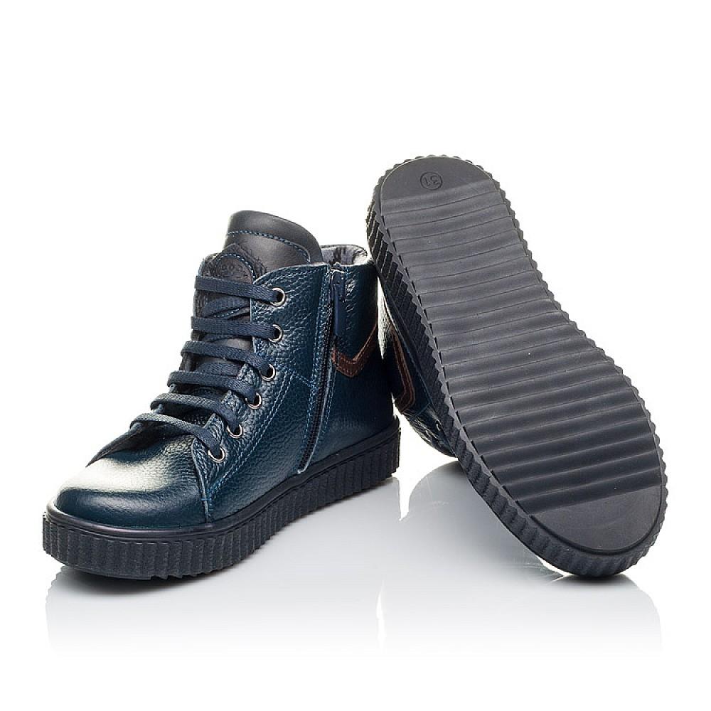 Детские демисезонные ботинки Woopy Orthopedic синие для мальчиков натуральная кожа размер 28-36 (3843) Фото 2