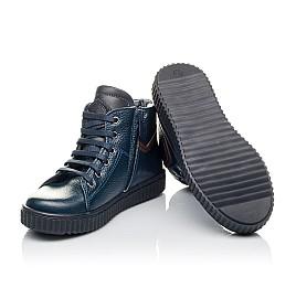 Детские демисезонные ботинки Woopy Orthopedic синие для мальчиков  натуральная кожа размер 29-35 (3843) Фото 2
