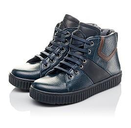 Детские демисезонные ботинки Woopy Orthopedic синие для мальчиков  натуральная кожа размер 29-35 (3843) Фото 3