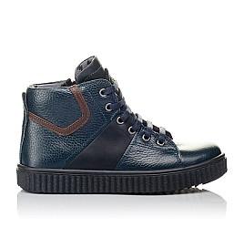 Детские демисезонные ботинки Woopy Orthopedic синие для мальчиков  натуральная кожа размер 29-35 (3843) Фото 4