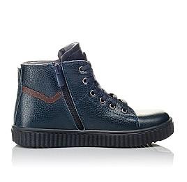 Детские демисезонные ботинки Woopy Orthopedic синие для мальчиков  натуральная кожа размер 29-35 (3843) Фото 5
