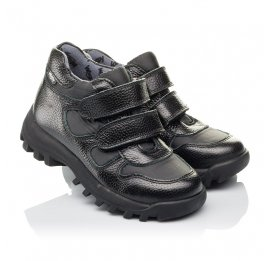 Детские демисезонные ботинки Woopy Orthopedic черные для мальчиков натуральная кожа, искусственный материал  размер 31-38 (3846) Фото 1