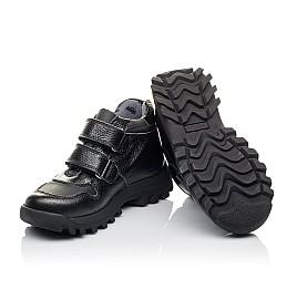 Детские демисезонные ботинки Woopy Orthopedic черные для мальчиков натуральная кожа, искусственный материал  размер 31-38 (3846) Фото 2