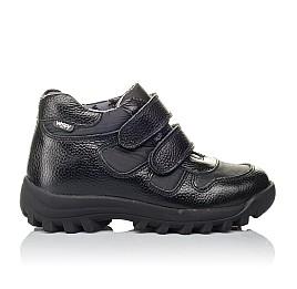 Детские демисезонные ботинки Woopy Orthopedic черные для мальчиков натуральная кожа, искусственный материал  размер 31-38 (3846) Фото 4