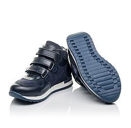 Детские демисезонные ботинки Woopy Orthopedic синие для мальчиков  натуральная кожа и нубук размер 27-33 (3850) Фото 2